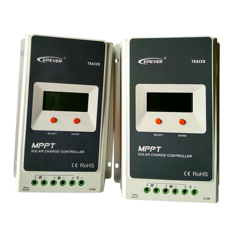MAYLAR@ 40A 12V/24V auto Solar Charger Controller MPPT VOC 100V LCD Solar Panel Charging Controller Voltage Control with MT50 maylar 12v 24v auto wind