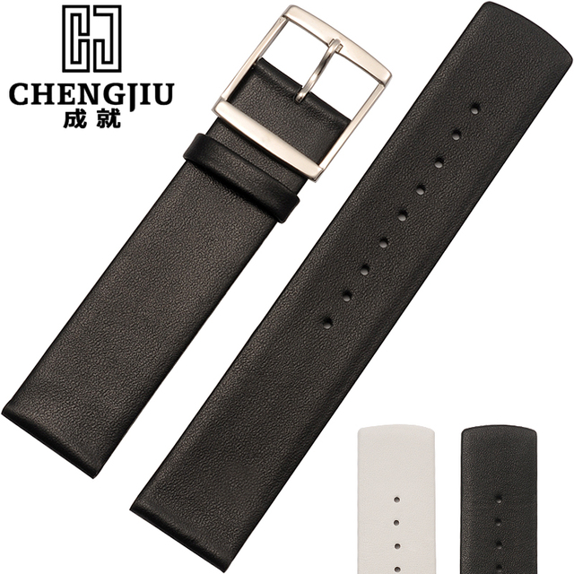 365510e8a84 16 18 20 22 mm Leather Flat Strap Watchband Watch Strap For Daniel  Wellington Calvin Klein For CK Watches Band Male Relogio Hom