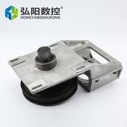 صندوق المخفض التموينية 1: 5 ، 1.25 م 1.5 م صندوق التروس ل nema34 أو 86 محرك متدرج متكامل مستقيم حلزوني الأسنان