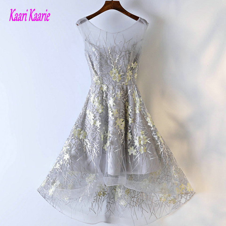 Fashion Silver Prom Dresses Short 2018 Sexy Prom Dress Custom Made