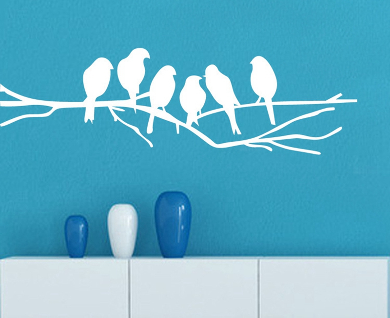 DIY Wall Stickers Decal Removable Black Bird Tree Branch Art Home Decor Living Room Trees Mural
