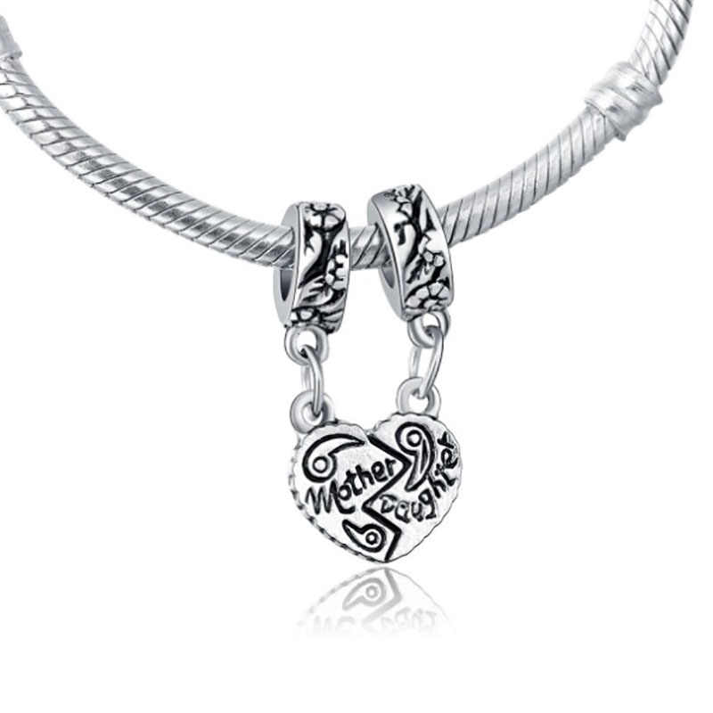 Phù hợp với Pandora Charms Plata Bạc 925 Ban Đầu Vòng Đeo Tay Làm Đồ Trang Sức Valentine của Ngày Mary Poppins Bijoux Hạt Đá Tự Nhiên