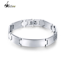 hot deal buy saisee silver bracelets men 316l stainless steel bracelets cuff wristband bracelets bangles homme men jewelry gift high polished