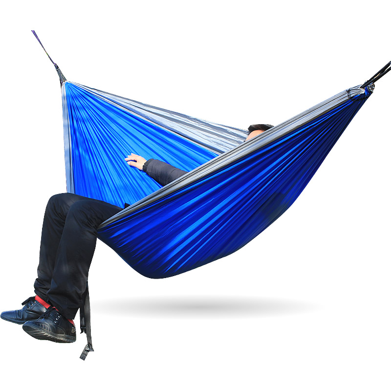 1-2 Person Outdoor Parachute Hammock Camping Hanging Sleeping Bed Swing Portable Double Chair Hamac Army Green