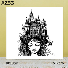 AZSG Pretty Girl / Famous Buildings Clear Stamps/Seals For DIY Scrapbooking/Card Making/Album Decorative Silicone Stamp Crafts