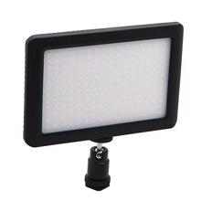 12W 192 LED סטודיו וידאו רציף אור מנורת עבור מצלמה DV מצלמת וידאו שחור
