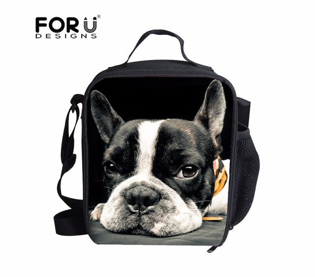 9930483f7097 3D Zoo Animal Bento Lunch Bag Cute French Bulldog Insulated Picnic Food Bags  for Kid Women Men Thermal Insulation Bolsa Termica