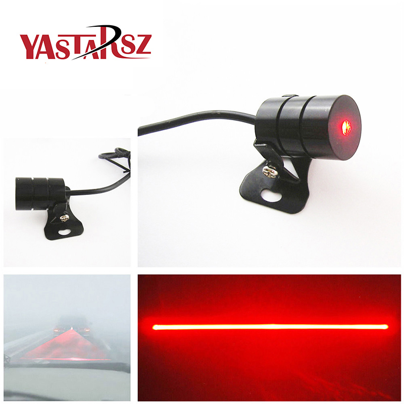 Anti Collision Car Laser Fog Light Rear-end Tail Led Lamp Auto Brake Parking Signal Indicators Rearing Warning Light Car Stylin 3w rear end laser tail fog light auto brake parking lamp warning light for car black