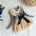 Niños Vestidos Para Niñas Niño Vestido De Niña 2015 Bata Enfant Fille a Rayas Con Lentejuelas Vestidos Infantil Meninas Infantis Vestido Mujer