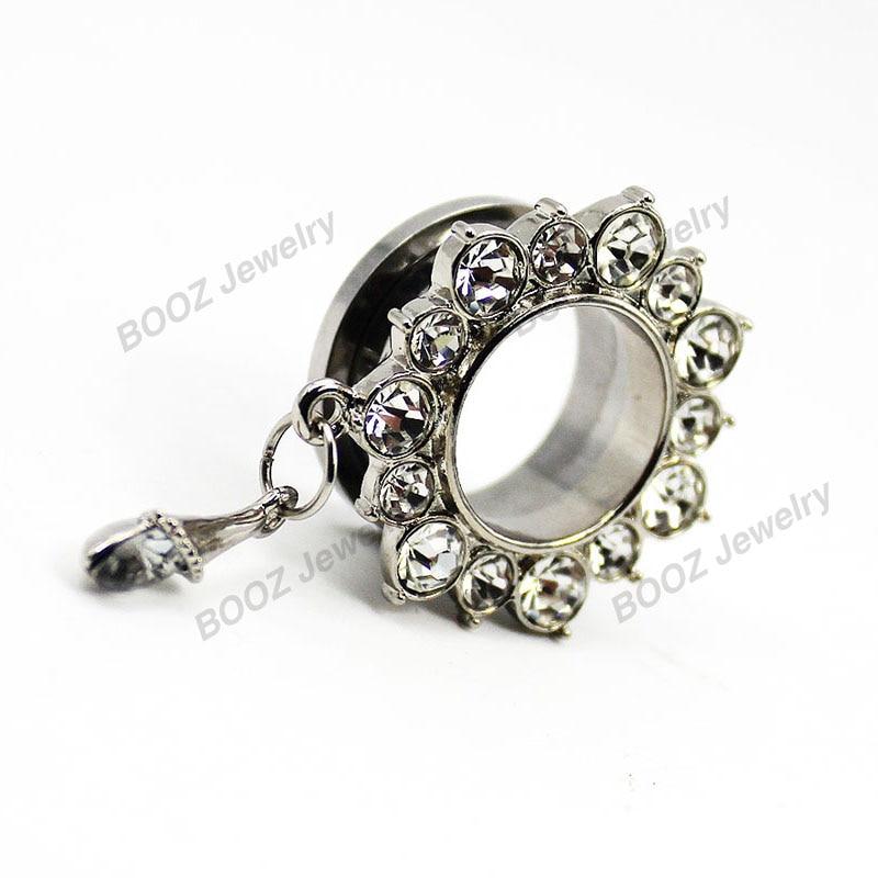 KUBOOZ 10 PCS Menjuntai Crystalar Ear Piercing Cincin Tandu Stainless - Perhiasan fashion - Foto 5