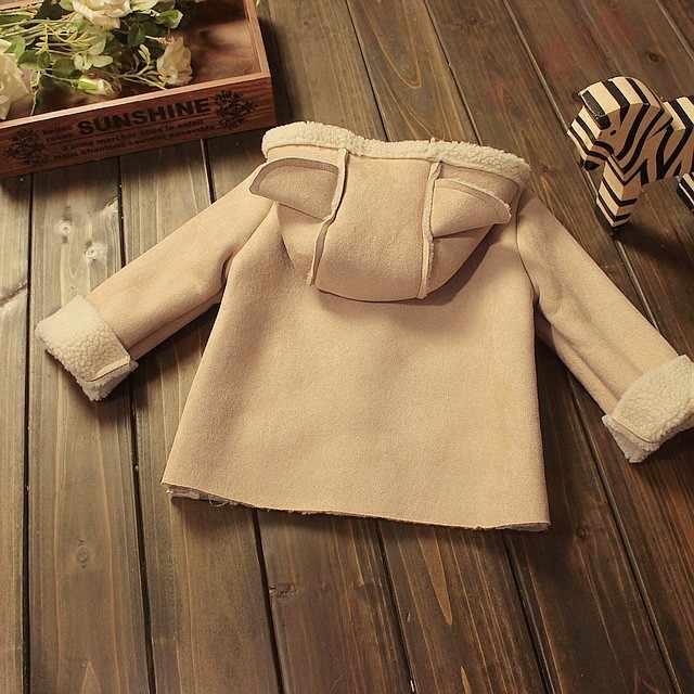 BibiCola 가을 겨울 어린이 의류 겉옷 소녀 따뜻한 모피 자켓 어린이 두꺼운 코트 아동 후드 소녀 코트 자켓