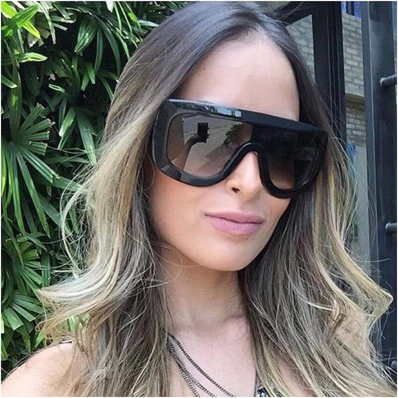 5596f9c99 WOWSUN Tons Armação de Acetato de Moda Sem Aro óculos de Sol Das Mulheres  Designer De Marca Homens Do Vintage Gradiente Óculos de Sol de Grandes  Dimensões ...