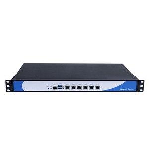 Image 2 - Yanling 19 אינץ 1U מתלה שרת Intel Skylake Celeron 3855U Dual Core חומת אש מחשב Barebone מערכת 6 Lan תמיכה AES NI pfsense