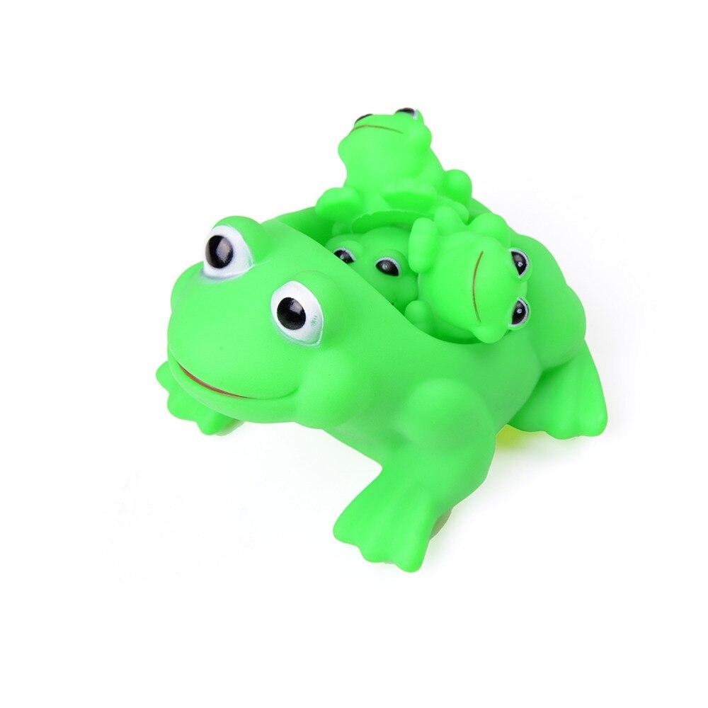 Frog bathroom set - 4pcs 1 Set Children Playing Water Frog Toy Set Mother Bathing Bath Animal Toys Classic