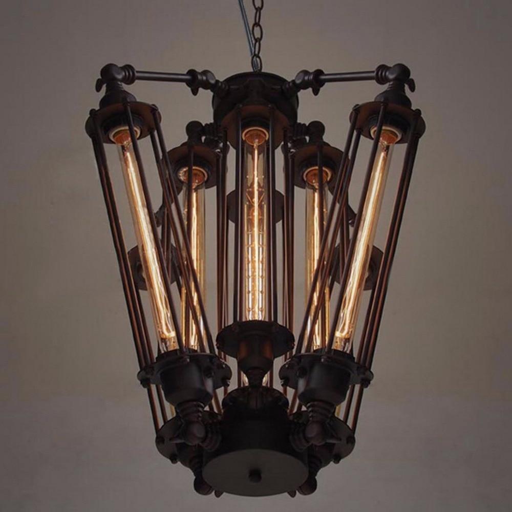 Aliexpress.com : Buy Loft Metal Tube Retro Industrial Metal Square ... for Balcony Hanging Lights  75sfw