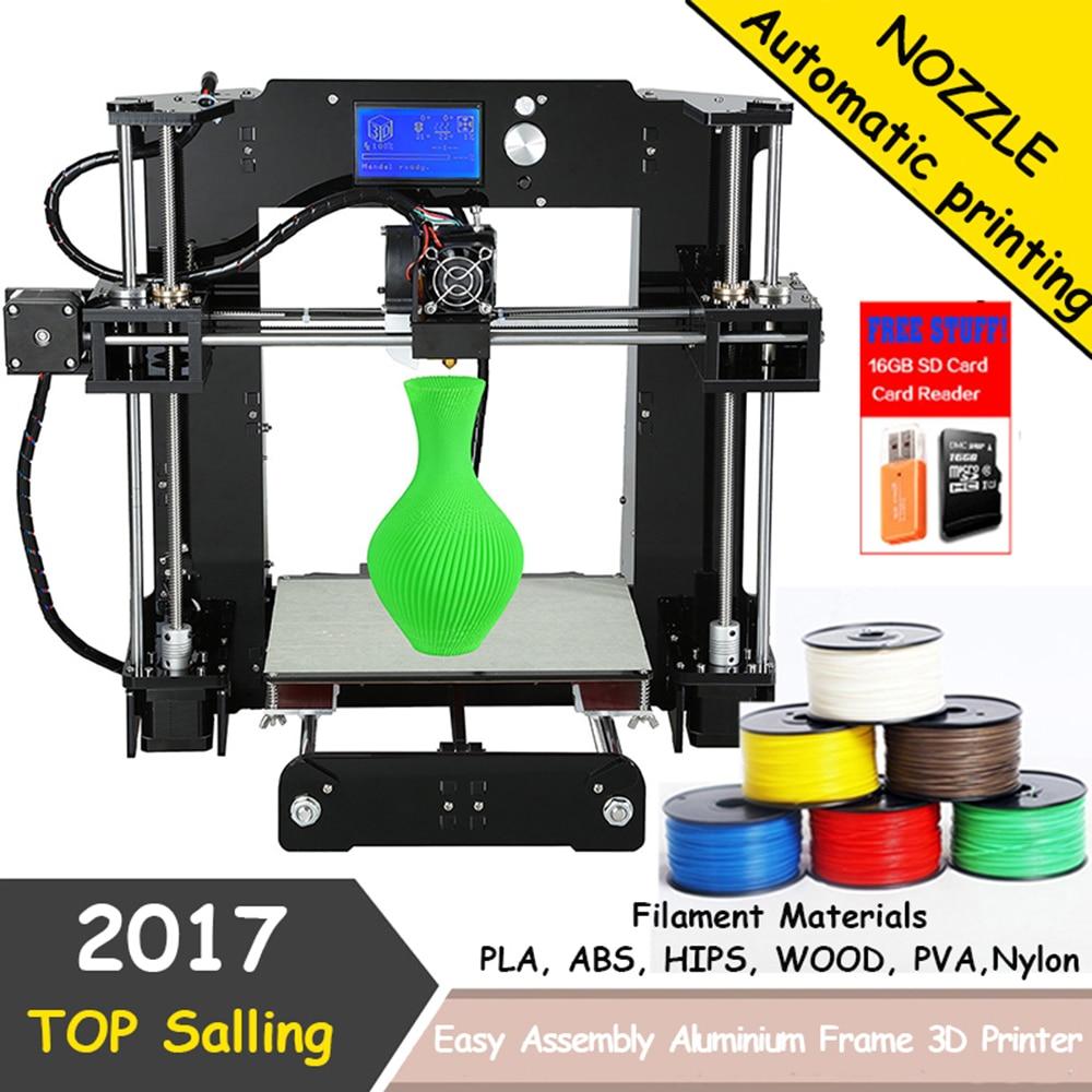 shenzhen usine pas cher imprimante 3d haute precision anet a6 3d imprimante reprap prusa i3 zone de travail de la machine d impression 220 220 250mm