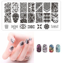 1pc Lace Design Nail Stamping Plates Nail Art Image Stamp Plates Manicure Set Template Nail Tool BC02 6*12cm