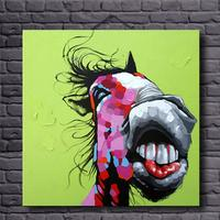 No Framed Hand Painted Lovely Donkey Wall Art Comical Animal Home Decor Modern Oil Painting On