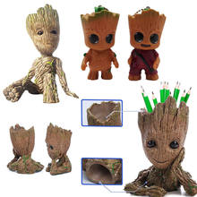 Tree Man Baby Action Figure Doll Phoneholder Guardians of The Galaxy Model Key Chain Pen Pot Flower Pot Toy Desk Decoration(China)