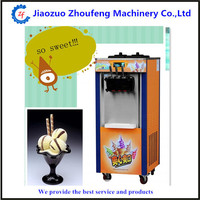 Commercial three color soft ice cream machine fruit icecream maker