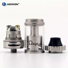 100% Authentic Vape Atomizer Advken Ohmega V2 RTA 4.5ML Capacity Rebuildable Vape RTA Silver Ohmega RTA