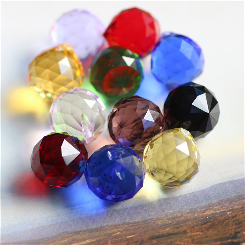 5PCS/lot 20mm Crystal Faceted Ball,Crystal Chandelier Ball Ps