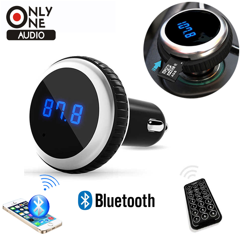 ONLY ONE AUDIO Car MP3 Audio Player Bluetooth FM Transmitter With Remote Control Wireless Car Kit HandsFree LCD Screen TF Slot