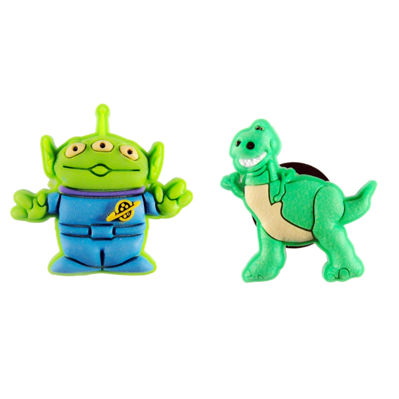 Free Shipping 2pcs Toy Story  Shoe Charms Shoe Accessories For Wristbands Croc Jibz Best Gift For Shoe Decoration Kids Gift