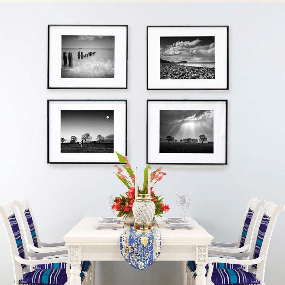 Aluminium bilderrahmen schwarz und weiß landschaft seacape ...