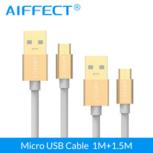 AIFFECT High-Speed Micro USB Cable Aluminum Micro-USB Cable Micro B to USB Data Charging Cable Cord Line X 2 Pieces 3.3Ft 5FT стоимость