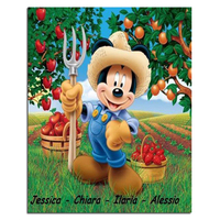 Diamond Painting Mickey Mouse 40x50CM Rhinestones Cross Stitch Diy Diamond Painting Mosaic Embroidery Household Decoration