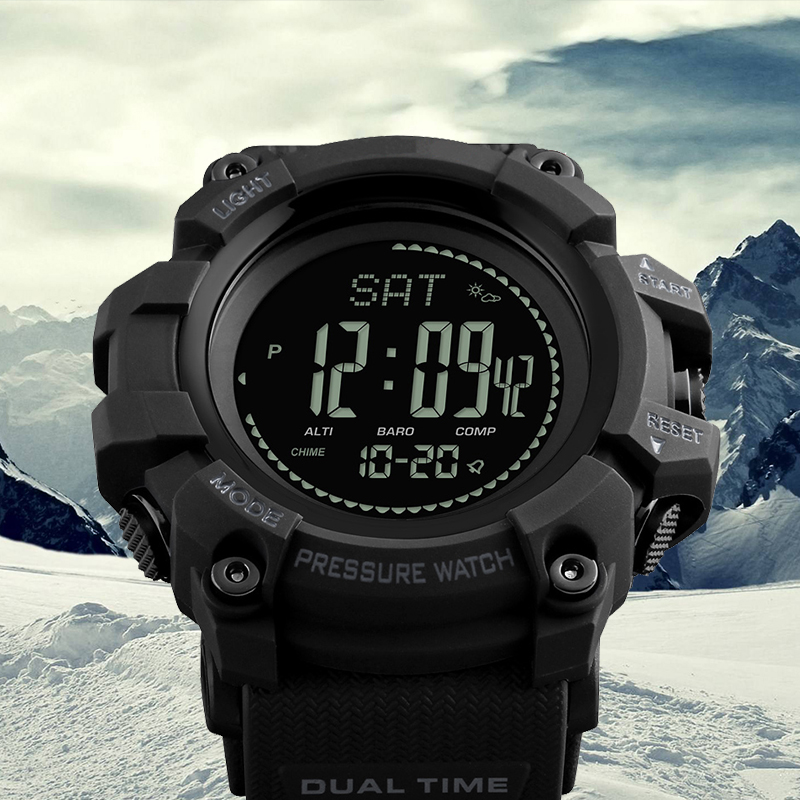 Men Sports Digital Wristwatches Pedometer Calories Compass Altimeter Barometer Fashion Outdoor Watches Clock Relogio Masculino skmei outdoor sports watches fashion compass altimeter barometer thermometer digital watch men hiking wristwatches relogio