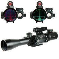 FS Hunting Airsoft Optics 3 9X40 Illuminated Red Laser Riflescope with Holographic Dot Sight Combo Gun Weapon Sight Chasse Caza