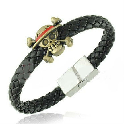 2014 NEW Fashion One Piece Titanium Steel Men Bracelet Charm Jewelry Braided Leather Bracelets & Bangles BL0171