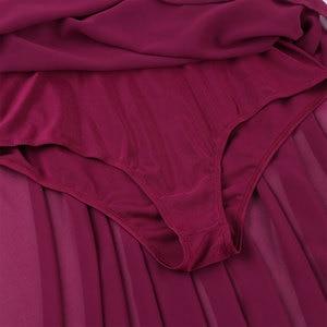 Image 5 - 스팽글 여성 민소매 쉬폰 발레 댄스 레오타드 드레스 성인 서정적 인 현대 무용 연습 의상 레오타드 투투 드레스