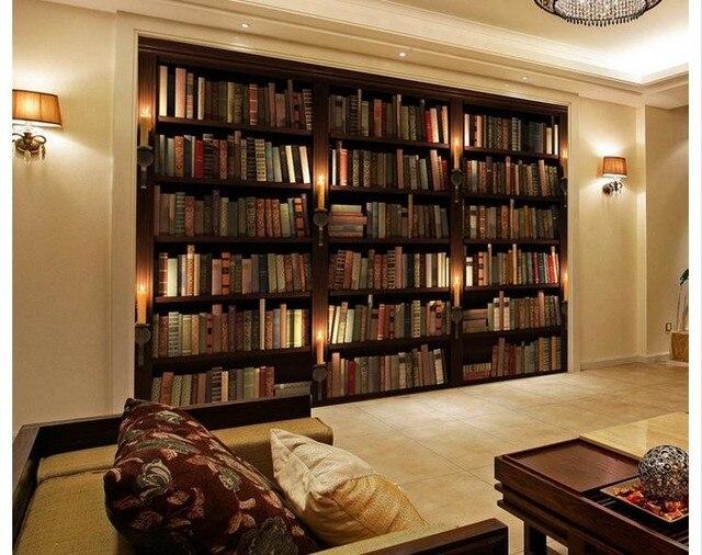 Boekenplank Met Boeken.Aangepaste 3d Wallpaper 3d Muurschilderingen Behang Boekenkast