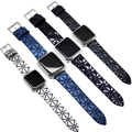 YUKIRIN глянцевый ремешок на запястье геометрический ремень матовый кожаный ремешок для Apple Watch Series 4 3 2 1 ремешок для iwatch мужской 44 мм 42 мм 40 мм 38 мм - фото