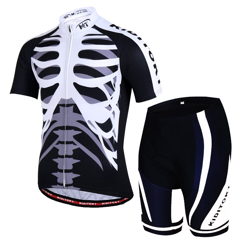 Cycling Jersey Set Bicycle Short Sleeve Set Mountain Bike Wear Breathable Shirt+3D Cushion Shorts Padded Pants Cycling Clothing