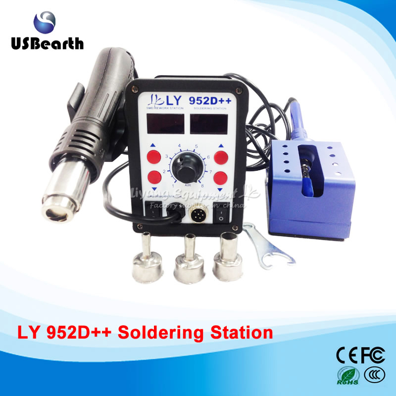 ФОТО big power LY 952D++ dual led 2 in 1 solder station with auto sleep function