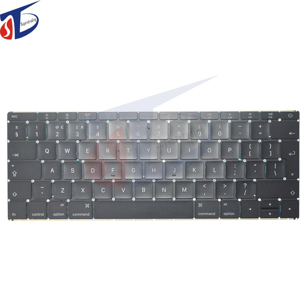 купить A1534 UK keyboard for macbook retina 12inch UK clavier keyboard without backlight early 2015 2016year по цене 6259.17 рублей