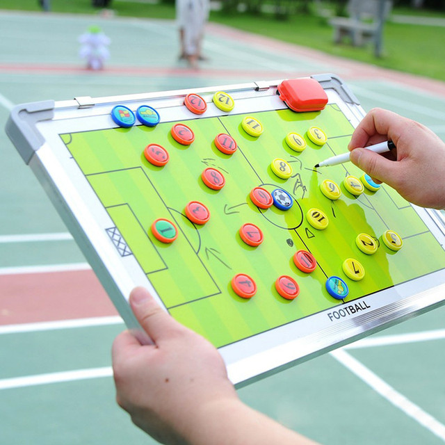 Magnetic 1PCS Soccer Coaching Board Tactics Board Soccer Tactical  Teaching Board Coaching Football Training Equipment Portable
