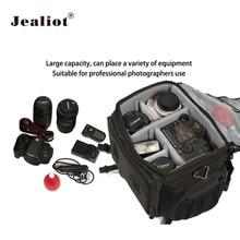 Jealiot Large capacity Photo bag for Camera Handbags shoulder dslr digital Waterproof shockproof Video lens case for Canon 5d