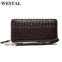 100 Genuine Leather Men Wallet Real Handmade With Coin Card Pocket Holder High Quality Long Clutch