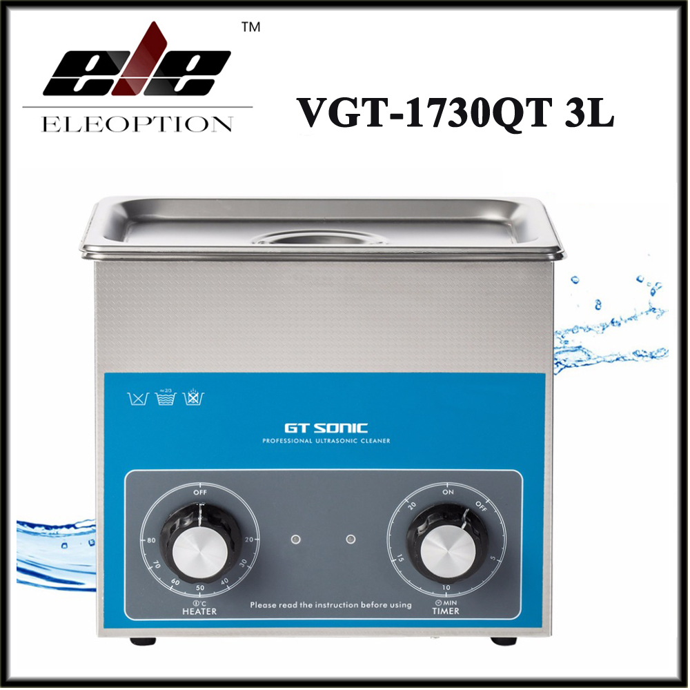 3L Ultrasonic Cleaner Timer Temperature Setting Stainless Tank Bath For Electronic Surgical Parts Cleaning Machine VGT-1730QT derui auto parts ultrasonic cleaner with timer and heated dr mh30 3l