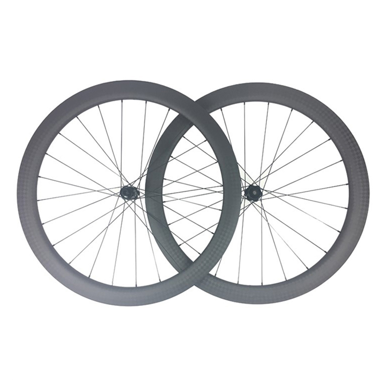 700C 42mm deep 25 wide asymmetric tubeless road disc bicycle carbon wheels 350 straigt pull center