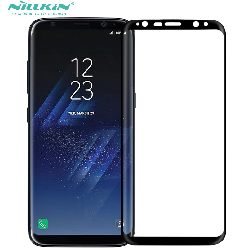 nillkin 3D S8 tempered glass screen protector For Samsung Galaxy S8 / S8 Plus full cover glass protective film curved edge