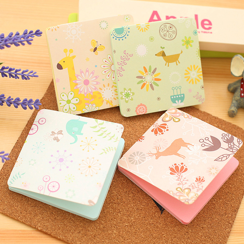 1Pack Cute Animal Paradise Candy Color Mini Memo Pad N Times Sticky Notes School Supply Bookmark Post it Label E0405