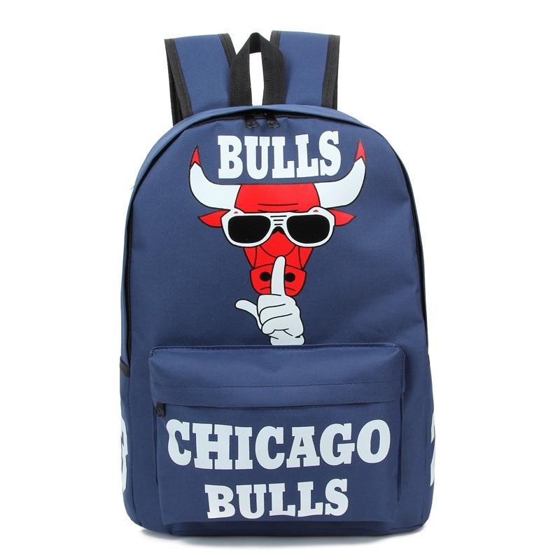 Men s Animated Schoolbag Fashion Chicago Bulls Printing Backpacks Women s  Waterproof Travel Bag Mochila Exo Zaino Laptop Rugtas-in Backpacks from  Luggage ... e3feaedf5e73