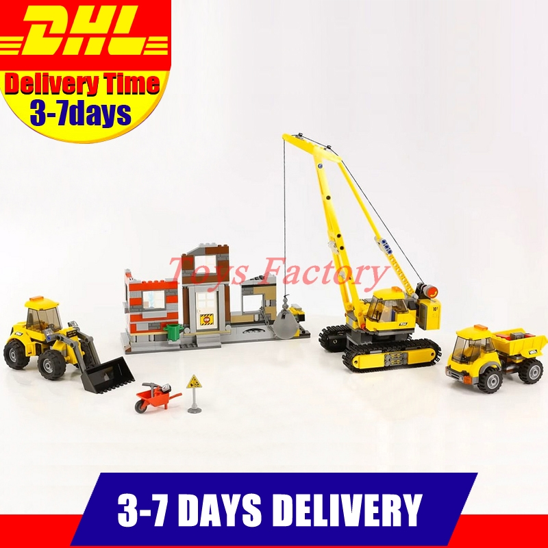 2018 MOC LEPIN 02042 869 PCS City Series Demolition Site Set Model Building Blocks Set Bricks Toys Compatible With 60076 Gift lepin 02012 city deepwater exploration vessel 60095 building blocks policeman toys children compatible with lego gift kid sets