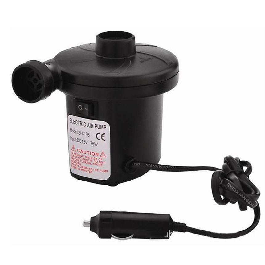 Vehicle Car-styling 12V/4800PA AC Car Electric Air Pump For Camping Airbed Boat Toy Inflator pump for boats car